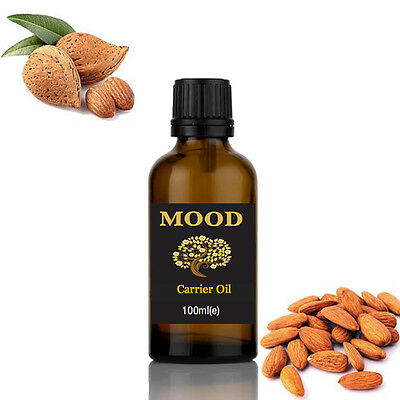 Sweet Almond Oil 100ml Natural Massage Carrier Oil Cold Pressed 100% Pure