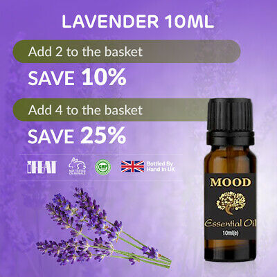 Essential Oil Pure 10ml Natural Oils Aromatherapy Fragrances Diffuser Lavender