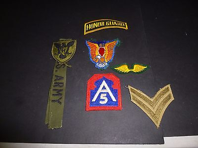 Nice lot of 8 vintage Military patches-Mixed lot
