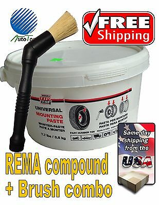 Rema Tire Universal Mounting Lube Paste-Brush Made In USA 75N combo