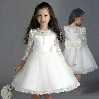 Flower Girl Dress Bridesmaid Wedding Communion Party Prom Princess Pageant