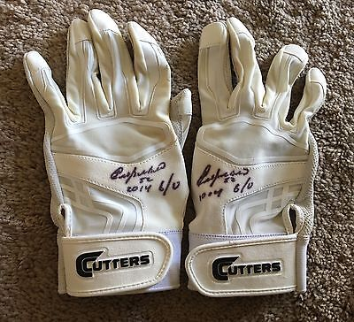 Yoenis Cespedes GAME USED 2014 BATTING GLOVES signed WORN auto METS