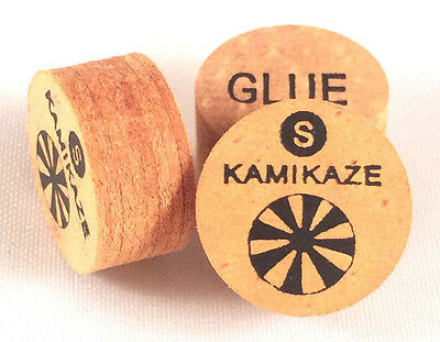 Just in...Kamikaze Brown Layered Cue Tips  14 MM  (Soft) (5 Tips) Fast Shipping.