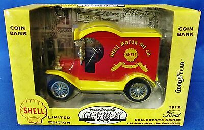 Nib Gearbox Toy 1912 Ford Collectors Series 1:24 Limited Edition Shell Coin Bank