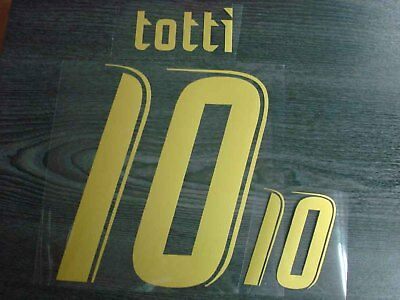 TOTTI #10 Italy Home World Cup 2006 Name + Numbering