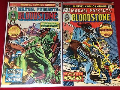 Marvel Presents #1 & #2 Origin and 1st and 2nd Appearance of BLOODSTONE GIL KANE
