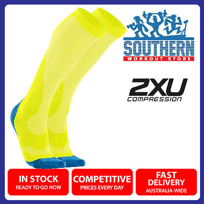 2XU MEN COMPRESSION PERFORM RUN SOCKS (MA2442e) L SIZE SPORT FITNESS RECOVERY