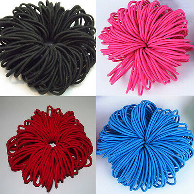 50/100pcs  Women Elastic Hair Ties Band Ropes Ring Ponytail Holder Accessories