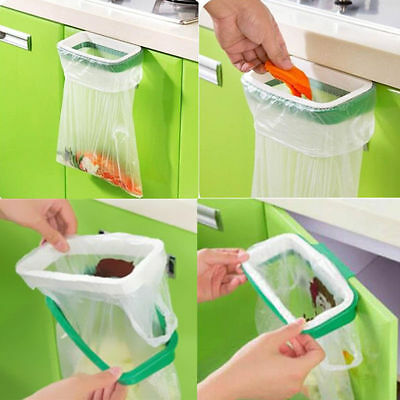 Storage Kitchen Garbage Holder Rack Plastic Hanging Trash Bag Home Portable Tool