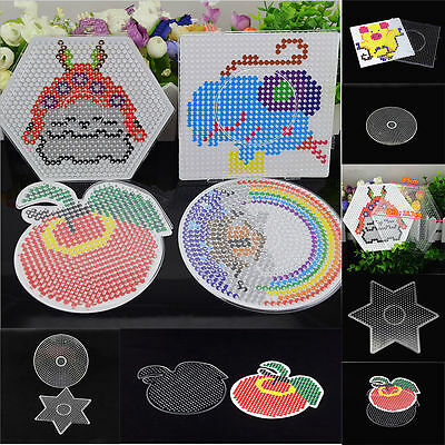 Kids Large Pegboards for Perler Bead / Hama Fuse Beads Clear Square Design Board