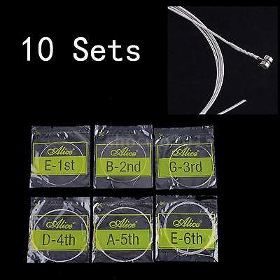 10 SET of Alice Electric Guitar Single String Stainless Steel Extra Light J9R1