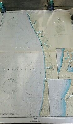 Lake Michigan 1947 Polyconic Projection Chart BIG 36x48 US WAR DEPARTMENT