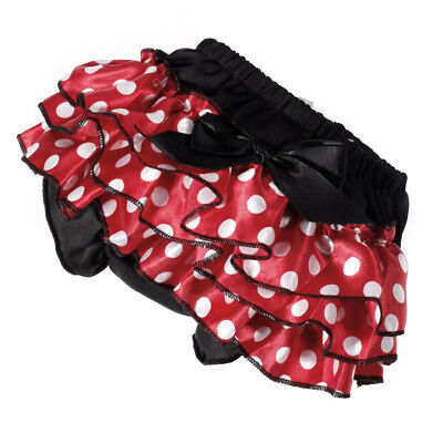 0-2Y Baby Girl's Bowknot Polka Dots Ruffle Pants Bloomers Nappy Cover Soft