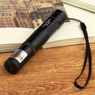 10 Mile JD 851 Powerful Green Laser Pointer 1mW 532nm 16340 Rechargeable