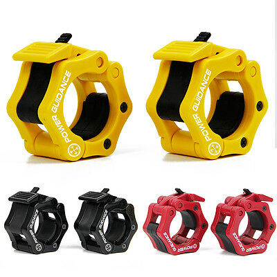 """Pair of 2"""" ABS Olympic Barbell Clamp Collar for Crossfit Trainning"""