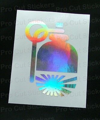 JDM Hand Grenade Rising Sun Silver Hologram Neo Chrome Funny Car Stickers Decals