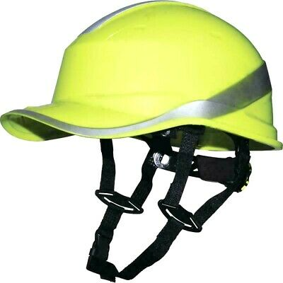Delta Plus DIAMOND V UP Safety Helmet Hi Vis Builders Hard Hat with Chin Strap