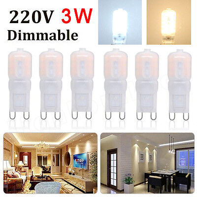 4 6 10x G9 3W 5W Dimmable 2835 14 LED Light Bulb Day Warm White Capsule Lamp CE