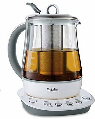 Mr. Coffee 1.2 L Gourmet Tea Maker Hot Water Kettle Home Kitchen White HTK100