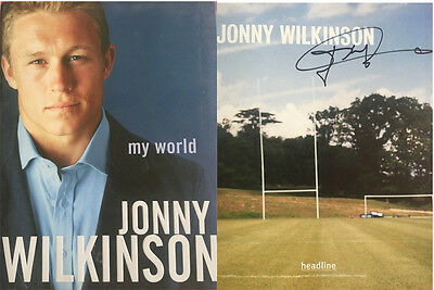 Jonny Wilkinson Signed 'my World' Autobiography Rugby Book *rare*