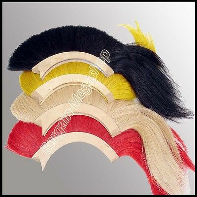 Helmet Hair Plume Brush 4 Pcs for Ancient Roman Greek Corinthian Helmet 4 Color
