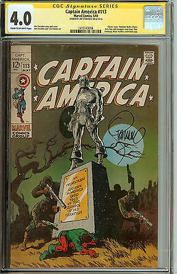 Captain America #113 CGC SS 4.0 Signed Jim Steranko