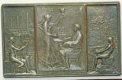 Medaille Charles Christofle 1892 Par O.roty Bronze Argente