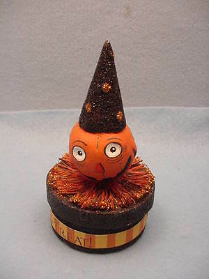 Bethany Lowe Designs  Small Jack-O-Lanter Candy Container Paper Mache