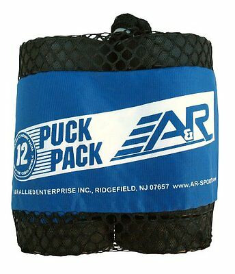 A&R Sports Ice Hockey Puck Pack of 12