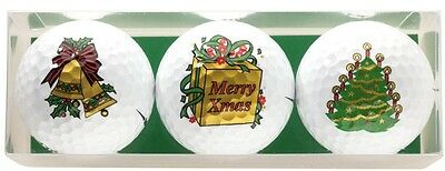 Noël Golf lot balles Cadeau de golf Lot De 3 #GBXM
