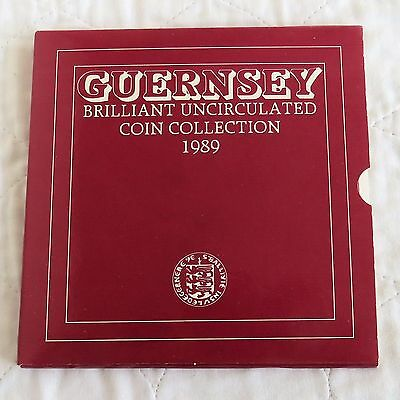 GUERNSEY 1989 ROYAL MINT 7 COIN BRILLIANT UNCIRCULATED SET -  sealed