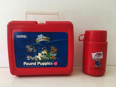 Pound Puppies Lunchbox with Thermos 1987 Tonka