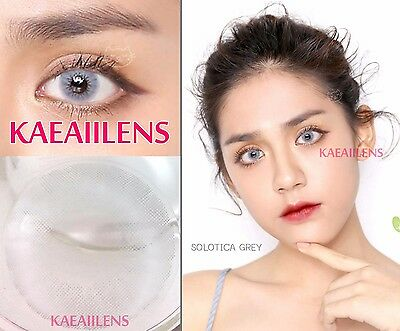 Kontaktlinsen Colored Lentilles de couleur Contact Lenses Solotica Light Gray