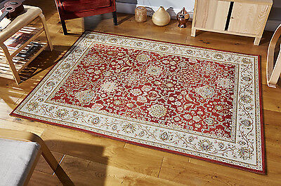RED Traditional Oriental Persian Design Flat weave Non Slip Rug Runner XS- Large