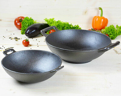 Cast Iron Wok Set Induction Asia By Hausnutz Heavy & Solid