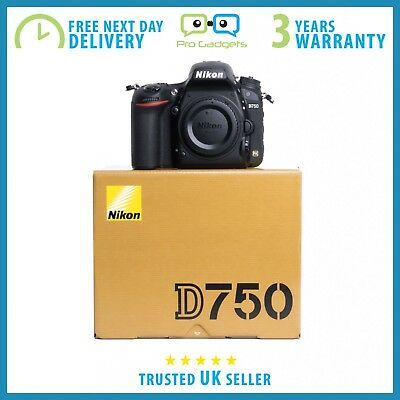 New Nikon D750 24.3MP DSLR Camera Body - Multiple Languages - 3 Year Warranty