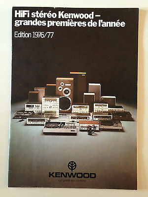 Catalogue Vintage Hifi Kenwood 1976/77