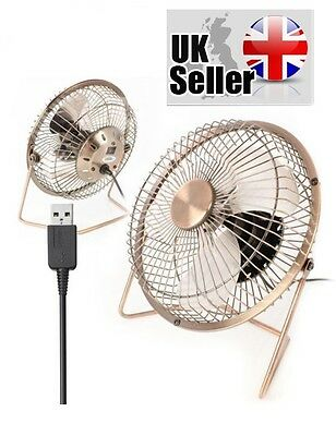 Usb Fan - Twitfish Portable Cooling Desk Quiet Brass Fan For Computer Laptop Pc