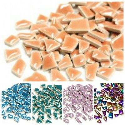 Jigsaw Ceramic Mosaic Tiles in a Choice of Colours - 100g