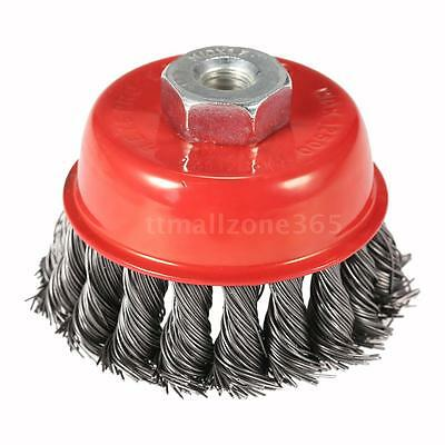 """3"""" Steel Wheel Knotted Cup Rotary Steel Wire Brush Angle Grinder 75mm Hot"""