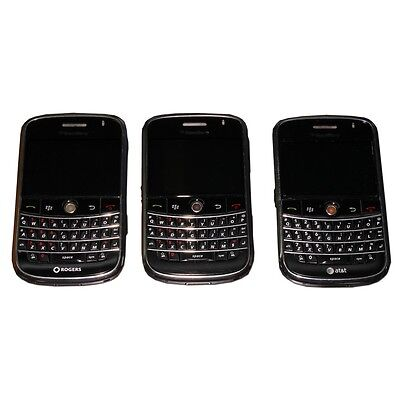 Blackberry 9000 Smartphone for Parts or Repair Only SOLD AS-IS Black LOT OF 3