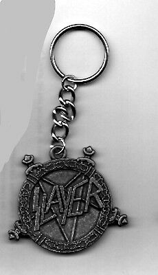 Slayer  KEYCHAIN metal band Logo Design OFFICIAL MERCHANDISE key chain retired