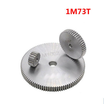 1 Mod 73T Spur Gear Steel Motor Pinion Gear Thickness 10mm Outer Dia 75mm x 1Pcs