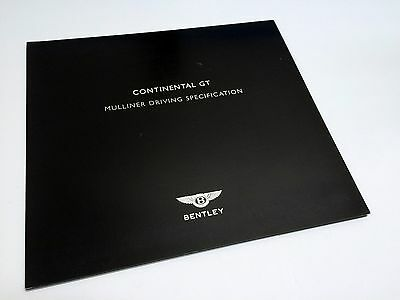 2006 Bentley Continental GT Mulliner Driving Specification Preview Brochure