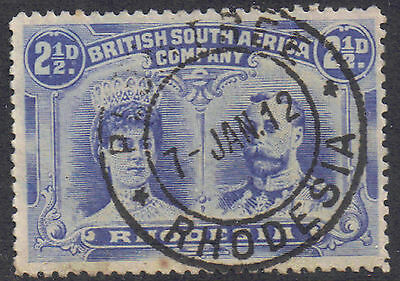 Rhodesia 1910 2.1/2d Chalky blue SG 133 used