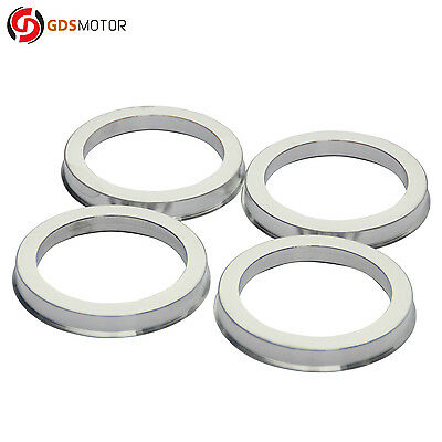 Set of 4 Wheel Hub Centric Rings Alloy Aluminum OD=73.1mm To ID=56.1mm Hubrings