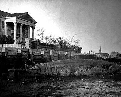 New 11x14 Civil War Photo: Torpedo Boat Beeched in Charleston, S.Carolina - 1865
