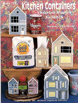 Kappie Plastic Canvas Needlework Pattern Book KITCHEN CONTAINERS Sue Penrod 159