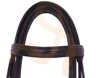 Rumani Premium Horse Leather Bridle with Rubber Grip Reins Full And Cob Size