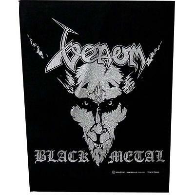 Official Licensed - Venom - Black Metal Back Patch Metal Thrash